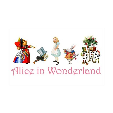 Alice In Wonderland 38.5 x 24.5 Wall Peel