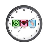 Peace Love Manicure Wall Clock