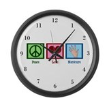 Peace Love Manicure Large Wall Clock