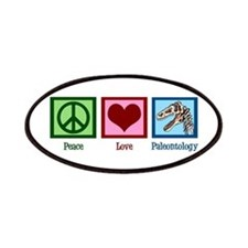 Peace Love Paleontology Patches