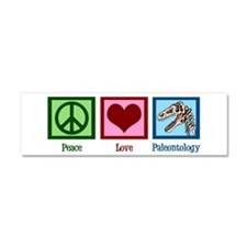 Peace Love Paleontology Car Magnet 10 x 3