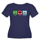 Peace Love Archaeology Women's Plus Size Scoop Nec