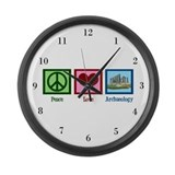 Peace Love Archaeology Large Wall Clock
