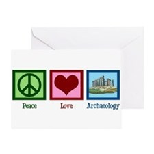 Peace Love Archaeology Greeting Card