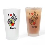 I Love Birds Drinking Glass
