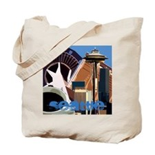 Seattle Abstract Tote Bag