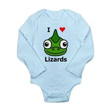 I Love Lizards Long Sleeve Infant Bodysuit