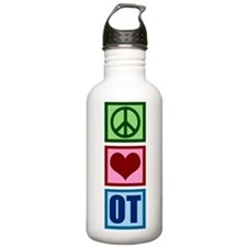 Peace Love OT Sports Water Bottle