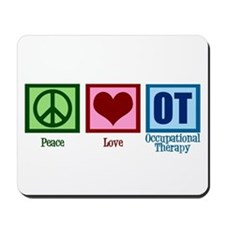 Peace Love OT Mousepad
