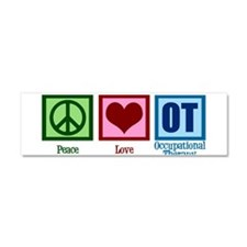 Peace Love OT Car Magnet 10 x 3
