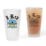 I Rep Saint Lucia Drinking Glass