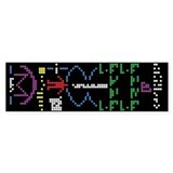 Human Binary Crop Circle Code UFO Bumper sticker
