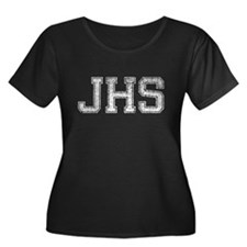 JHS, Vintage, Women's Plus Size Scoop Neck Dark T-