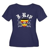 I Rep Uganda Women's Plus Size Scoop Neck Dark T-S
