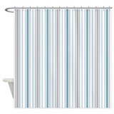 Amara Stripe Cornflower Shower Curtain