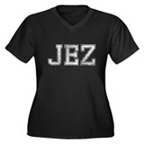 JEZ, Vintage, Women's Plus Size V-Neck Dark T-Shir