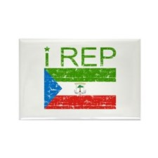 I Rep Equatorial_Guinea Rectangle Magnet (100 pack