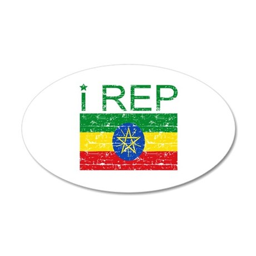 I Rep Ethiopia 22x14 Oval Wall Peel