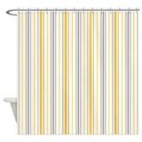 Amara Stripe Amber Shower Curtain