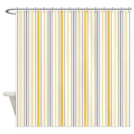 Amara Stripe Amber Shower Curtain By Floatinglemons