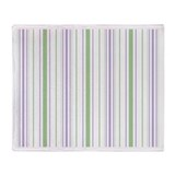Amara Stripe Lavender Throw Blanket