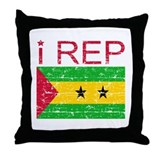 I Rep Sao Tome and Principe Throw Pillow