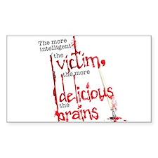 brains Sticker (Rectangle 10 pk)