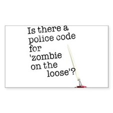 zombie on the loose Sticker (Rectangle)