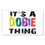 Dobie THING Decal