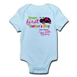 Ladybug 1st Fathers Day Onesie