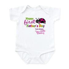 Ladybug 1st Fathers Day Onesie