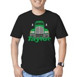 Trucker Taylor Men's Fitted T-Shirt (dark)
