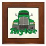 Trucker Taylor Framed Tile