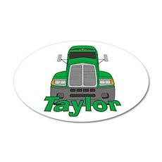 Trucker Taylor 22x14 Oval Wall Peel