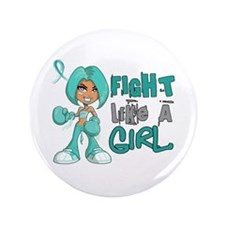 "Fight Like a Girl 42.8 Peritoneal Cancer 3.5"" Butt"