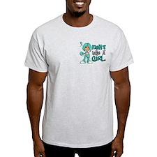 Fight Like a Girl 42.8 Ovarian Cancer T-Shirt