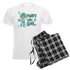 Fight Like a Girl 42.8 Ovarian Cancer Pajamas