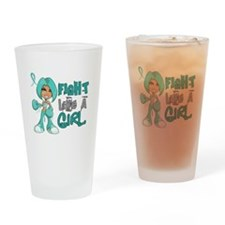 Licensed Fight Like A Girl 42.8 Ova Drinking Glass