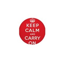 Keep Calm And Carry On Mini Button (10 pack)