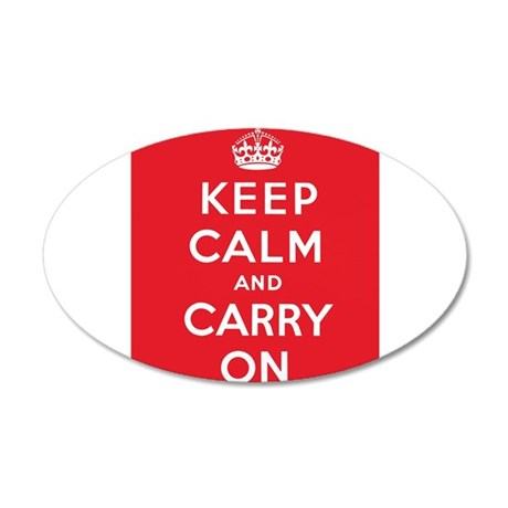 Keep Calm And Carry On 22x14 Oval Wall Peel