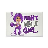 Fight Like a Girl 42.8 Fibromyalgia Rectangle Magn