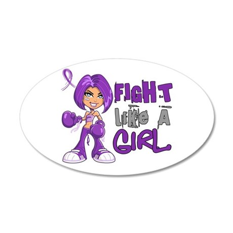 Licensed Fight Like a Girl 4 20x12 Oval Wall Decal