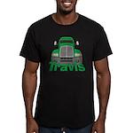 Trucker Travis Men's Fitted T-Shirt (dark)
