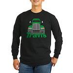 Trucker Travis Long Sleeve Dark T-Shirt