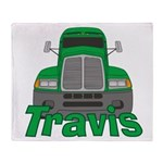Trucker Travis Throw Blanket