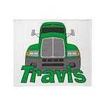 Trucker Travis Throw Blanket