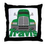 Trucker Travis Throw Pillow