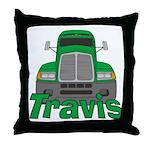 Trucker Travis Throw Pillow