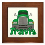 Trucker Travis Framed Tile