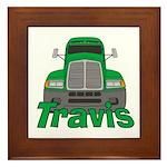 Trucker Travis Framed Tile